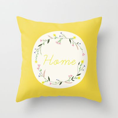 Home Throw Pillow by Babiole Design - $20.00