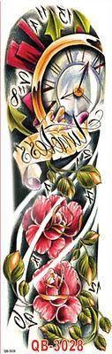 Einmal-Tattoo Temporary Tattoo wasserdicht 450*160mm Neu Sleeve tat18  #armband #ohrhanger #bracelets #necklace #designer #oliviasschmuck #olivias #ruby #preciousstones #rubin