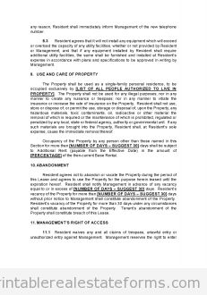 Free Pro Landlord Monster Lease Printable Real Estate Forms1