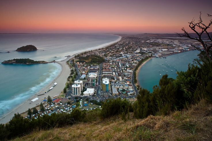 A superb sunset view from the Walk around Mt Maunganui, NZ
