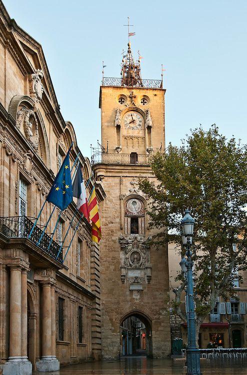 Clock Tower In Aix En Provence , France