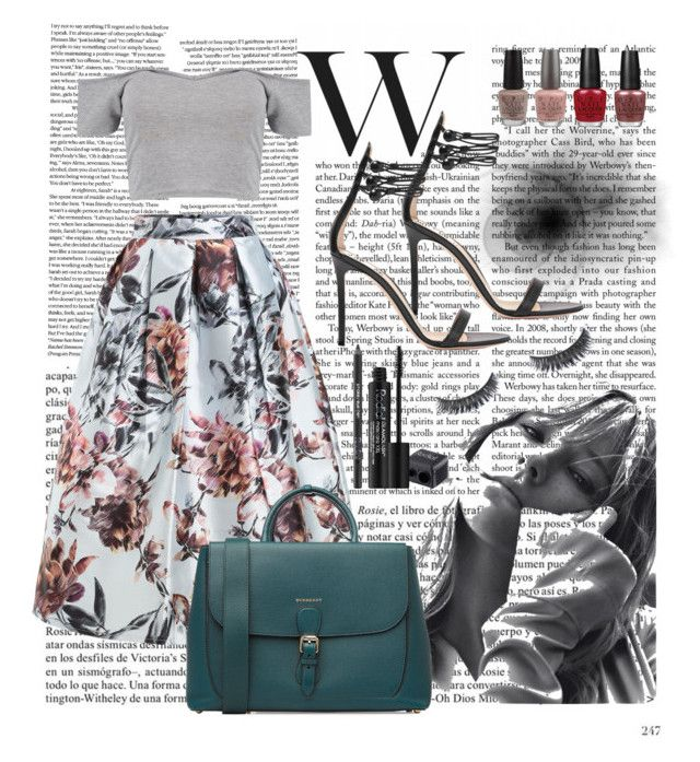 """""""Untitled #22"""" by siggan22 on Polyvore featuring Whiteley, Gianvito Rossi, Boohoo, OPI, WithChic, Burberry and Rodial"""