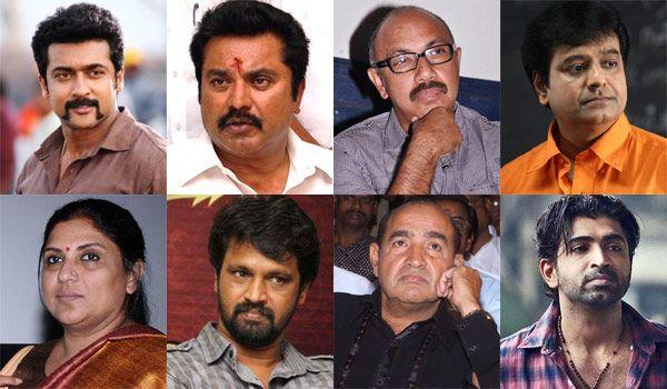 Non-bailable arrest warrant has been provided against Actor Sathyaraj, Surya, Sarathkumar, Sripriya, Vivek, Arun Vijay,Vijayakumar & cheran. #KollywoodNews www.chennaiungalkaiyil.com.