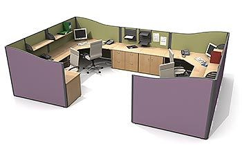 9 best images about office space ideas on pinterest for Office arrangements small offices