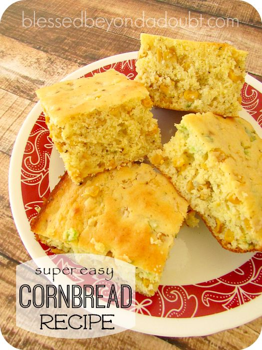 So easy mexican cornbread recipe. It's perfect with chili, soup or any bean recipe!