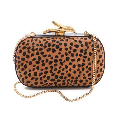 DVF leopard minaudiere