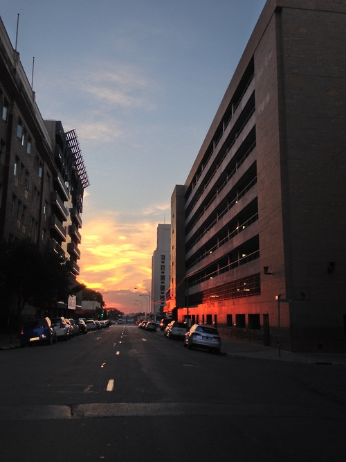 This is a Joburg sunset. No camera filter. Shot with an iPhone 5. You're welcome.