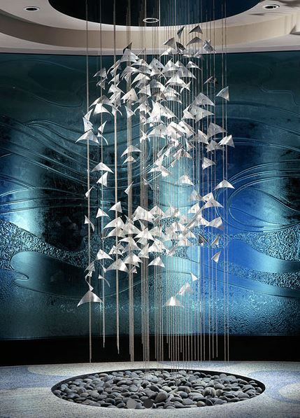 Pennsylvania artist talley fisher specializes in suspended for Ocean themed interior design