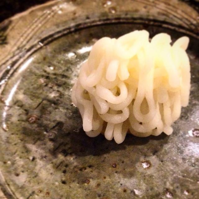 栗ペースト餡に百合根ペーストをモンブラン風に飾ってみました。 - 27件のもぐもぐ - 栗餡百合根 by atsuizm0726