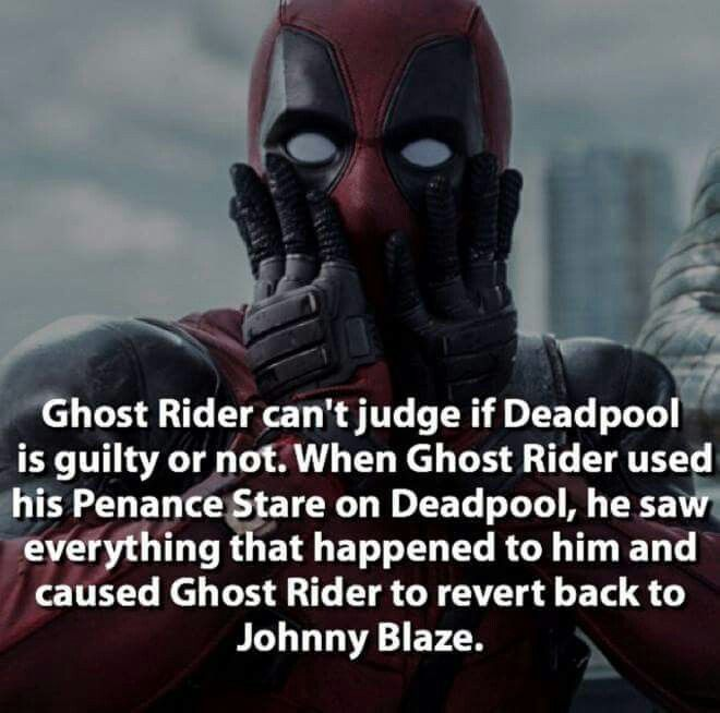 Deadpool fact.                                                                                                                                                      More