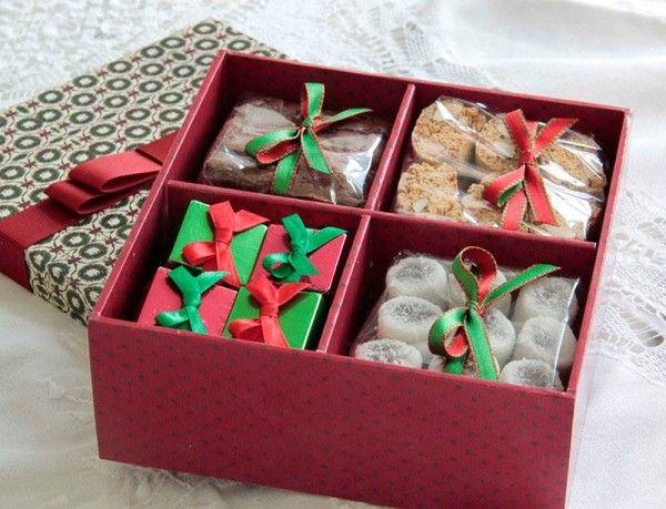 Caixa de waffer com Nutella , Bala de Coco de Brigadeiro, Cantucci e Brownies