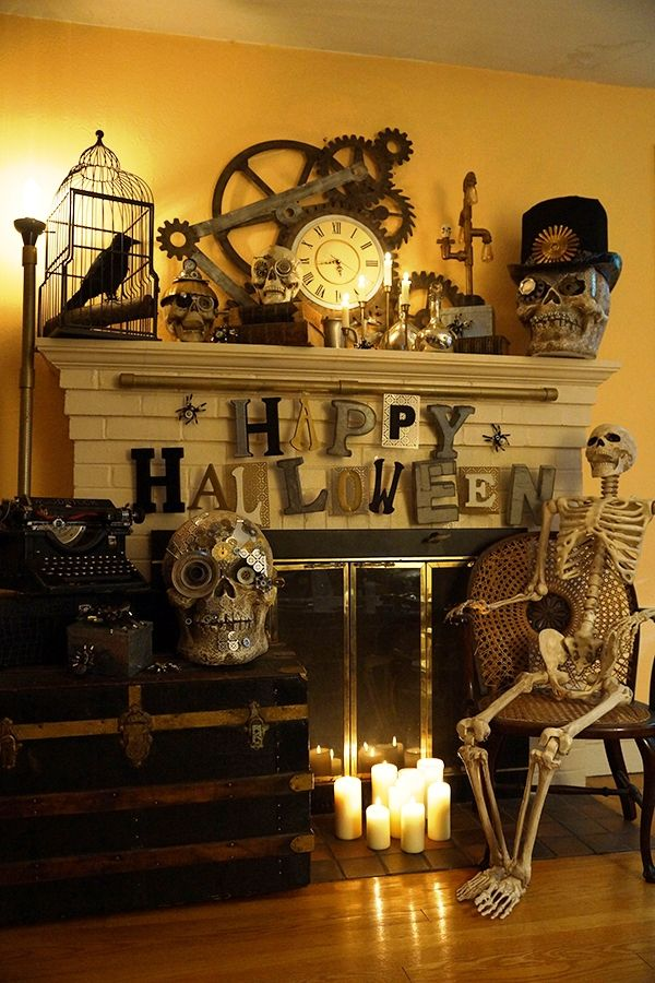 175 best HALLOWEEN DECORATIONS ETC images on Pinterest Halloween - indoor halloween decoration ideas