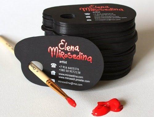 31 best creative business cards images on pinterest carte de an artists palette business card for an artist named elena mirosedina reheart Choice Image