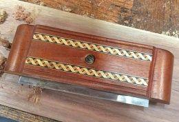 Cabinet Scraper - Homemade cabinet scraper featuring an inlaid mahogany body. Measures 7-3/4