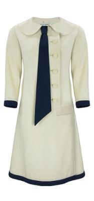 Jean Patou 1920's cream coat dress. -- this looks so much like a 1960s style it's uncanny