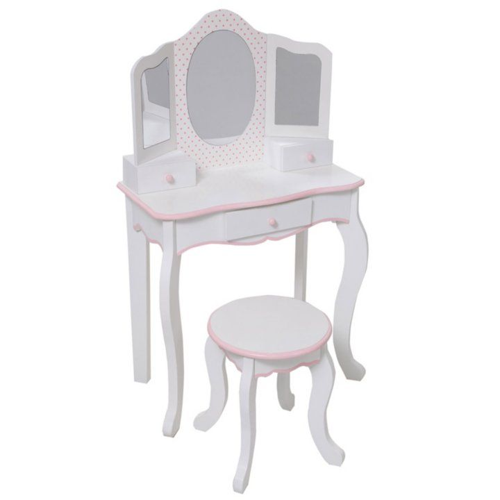 Vanity Table With Stool Set With Images Vanity Table Toddler