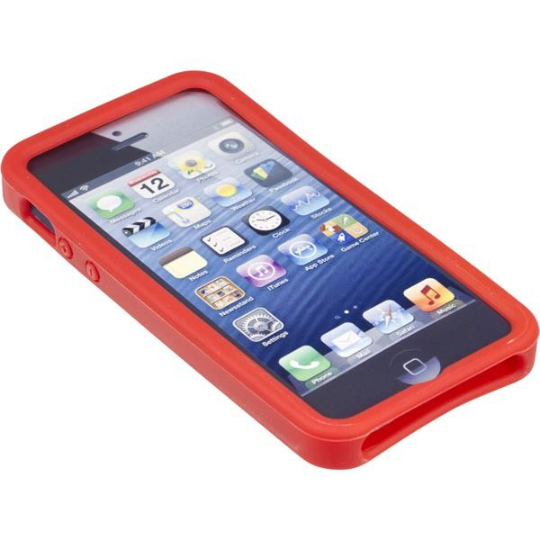 Silikonskal till iPhone 5/5S, röd