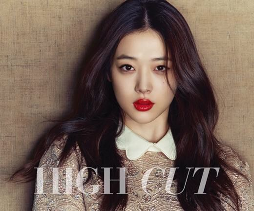 f(x)'s Sulli High Cut Vol. 146 Look 1