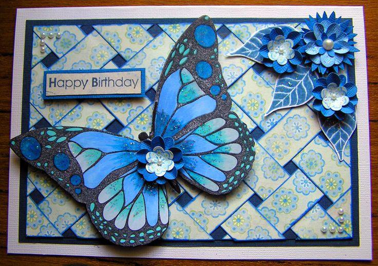 Basket Weave Flutterby card