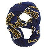 NFL Los Angeles Rams Womens NFL Sheer Infinity Scarf Blue One Size Fits All