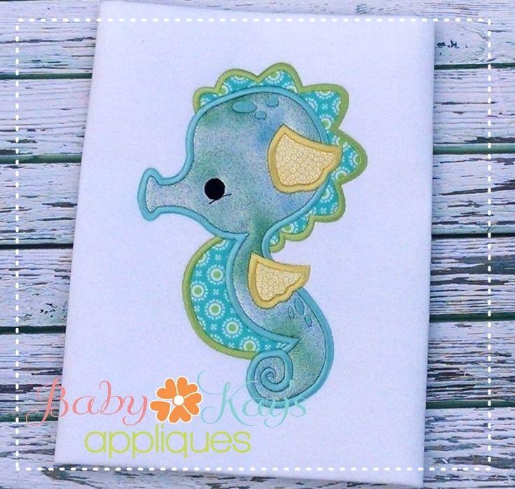 Baby Kay's Appliques - Baby SeaHorse 4x4, 5x7, 6x10, 8x8, $4.00 (http://www.babykaysappliques.com/baby-seahorse-4x4-5x7-6x10-8x8/)