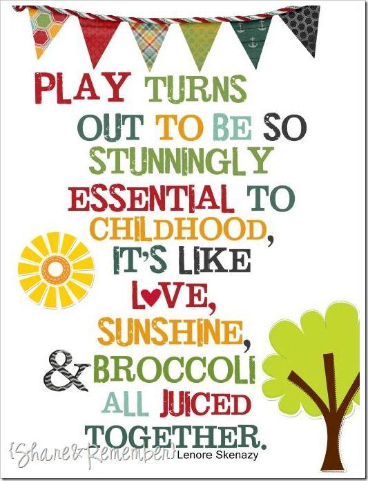 PLAY an Early Childhood Training Printable
