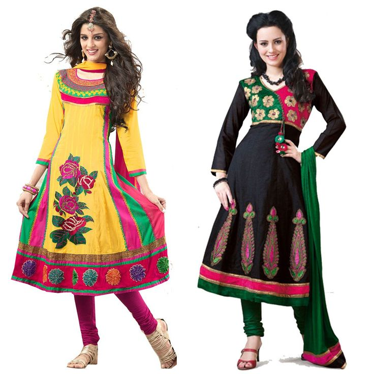 """""""When you connect to the silence within you, that is when you can make sense of the disturbance going on around you."""" Pack of 2 #Cotton Designer #Salwaar Kameez"""