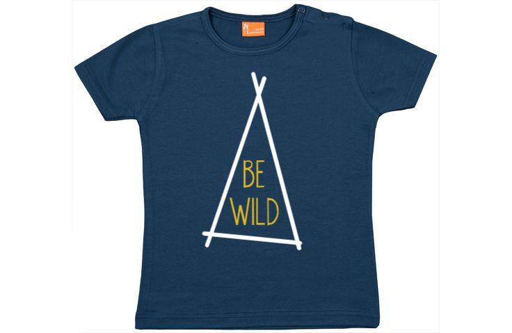 Baby t-shirt: Be Wild (tent)  Baby t-shirt korte mouw bedrukt met Be Wild (tent). Deze t-shirtjes hebben een mooie pasvorm dankzij 5% elasthan en zijn verkrijgbaar in 10 verschillende kleuren en in 4 maten. Leuk als basic maar ook om zelf te ontwerpen met eigen teksten en vrolijke ontwerpjes. De t-shirtjes zijn prima te wassen op 40 graden en kunnen binnenste buiten gestreken worden. De opdruk is in onze ontwerp studio aan te passen.  EUR 9.95  Meer informatie