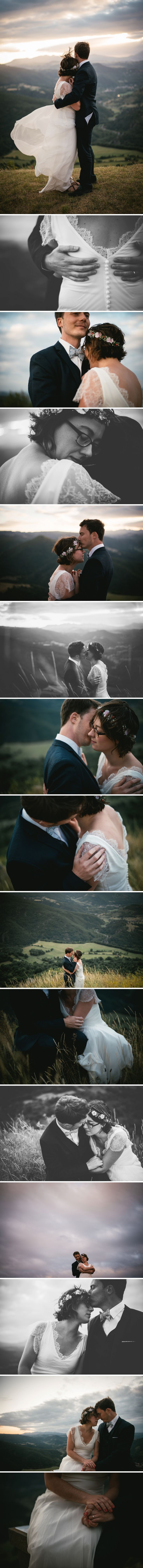 A very windy trash the dress session on top of a French mountain - Zephyr & Luna photography