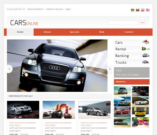 Cars Online Free #Responsive #HTML5 #CSS3 #Mobileweb Template