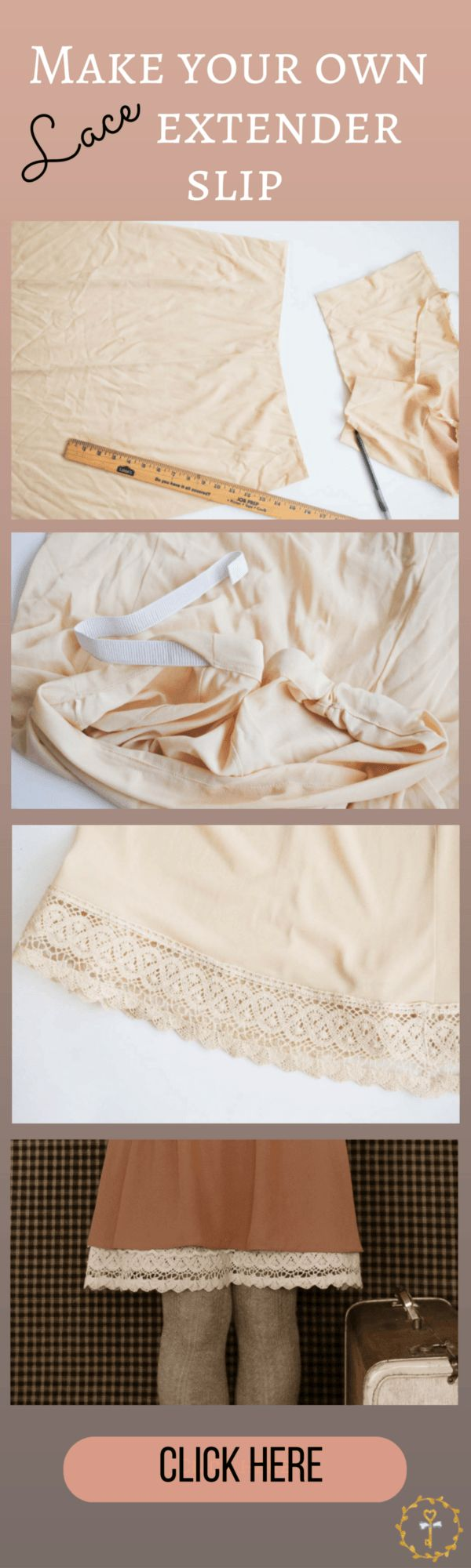 The cutest Vintage extender slip tutorial.