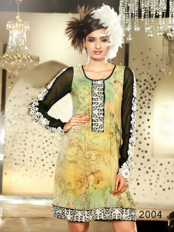 Full sleeve designer Cotton kurti