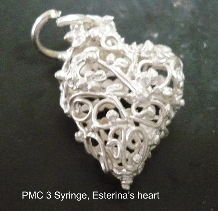 Esterina's delicate yet intricate work of PMC3 syringe.