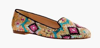 Shoe of the Day | @JCrew Sophie Sequin #Loafers ~ #SHOEOGRAPHY #flats #sequins #NYFW