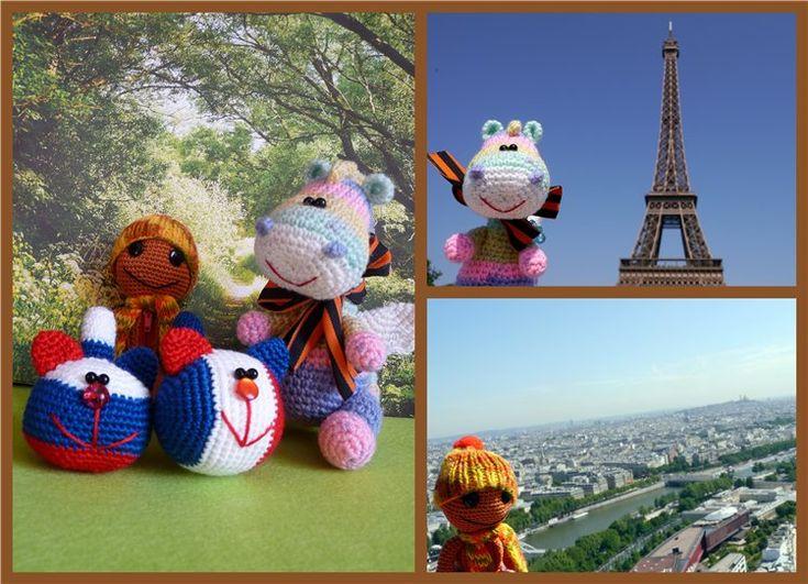 Игрушки путешествуют по свету!!!. Париж,2012