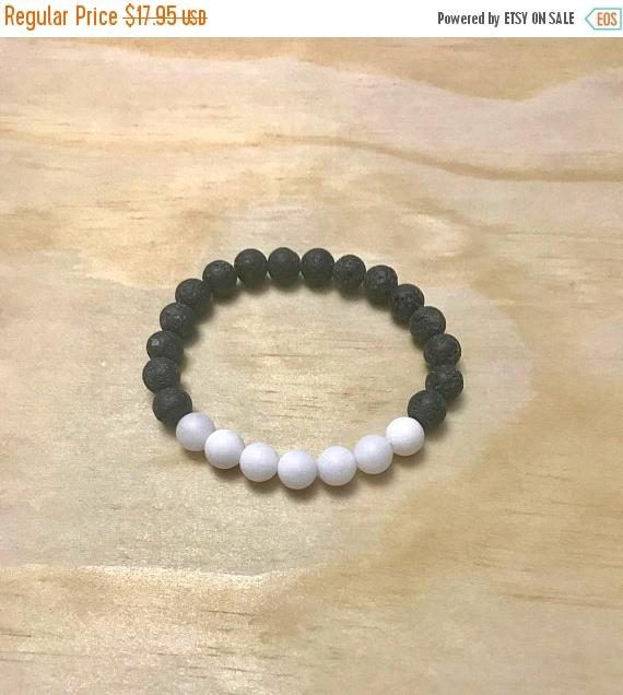 On Sale White Jade Lava Diffuser Bracelet, Natural Matte White Jade Stone Bracelet, Aromatherapy Diffuser Jewelry