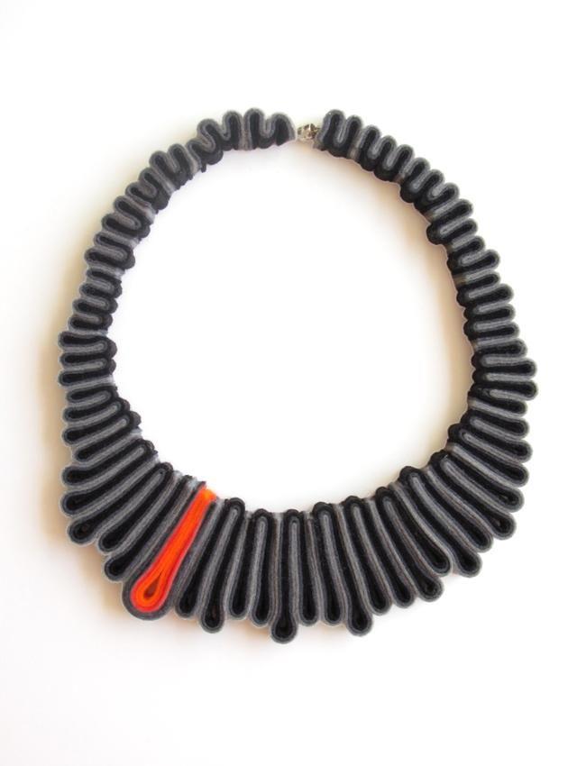felt necklace by IsFelt