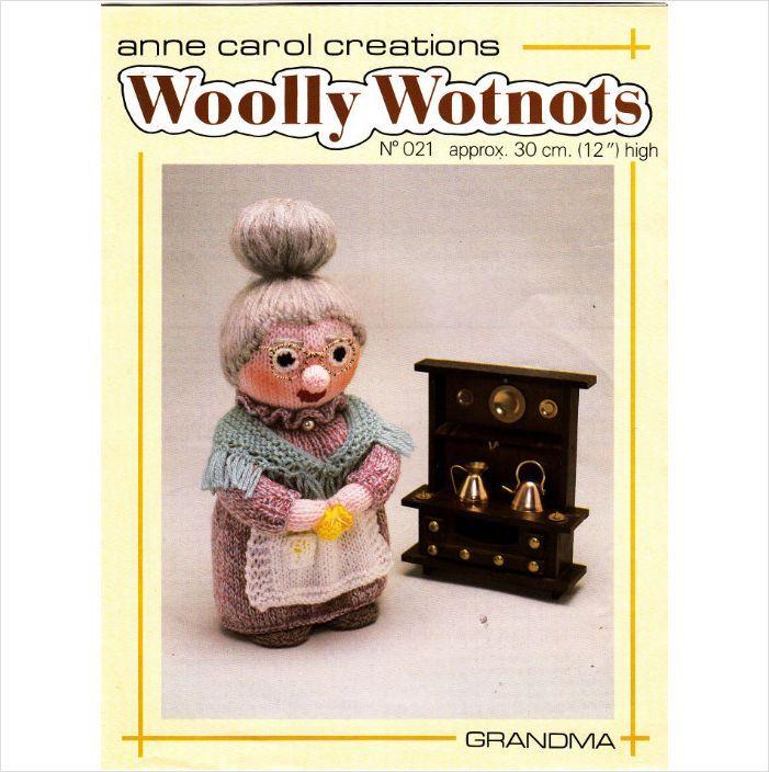 "21 Anne Carol Woolly Wotnots Knitting Pattern Grandma 12"" High DK on eBid United Kingdom"
