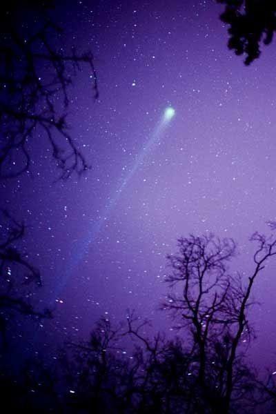 Cometa en cielo purpura