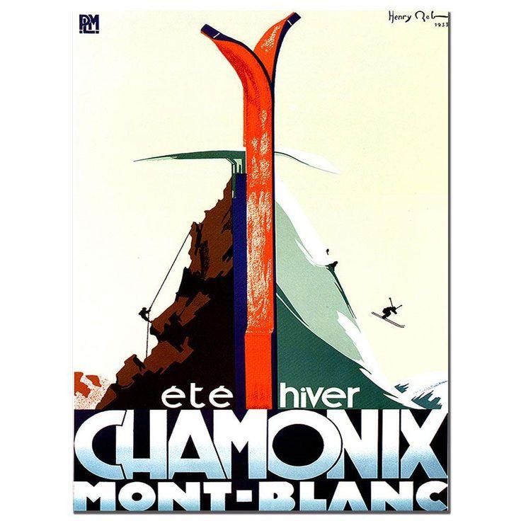 18 in. x 24 in. Chamonix Mont. Blanc Vintage Canvas Art