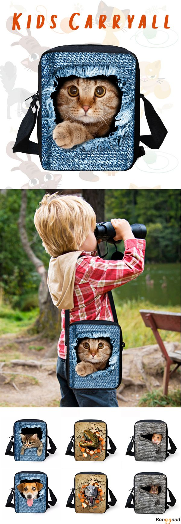 Carryall for Kids. 20+ Patterns Available. 53% OFF. Recommend for you.