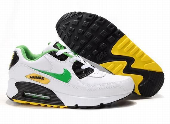 https://www.kengriffeyshoes.com/nike-air-max-90-white-green-black-yellow-p-713.html NIKE AIR MAX 90 WHITE GREEN BLACK YELLOW Only $70.85 , Free Shipping!