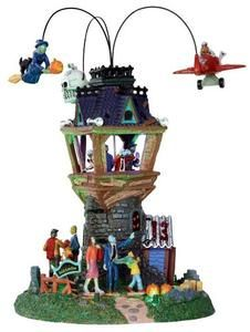 spookytown villages halloween airshow set of 2 battery operated 45v