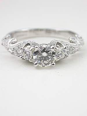 Swirling Diamond Vintage Engagement Ring.... Just breathtaking!