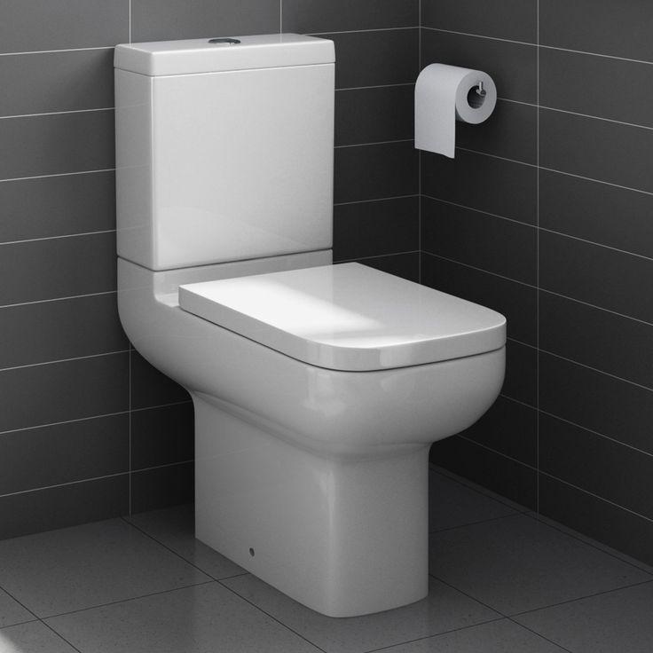 £129 Short Projection Close Coupled Toilet & Cistern inc Soft Close Seat