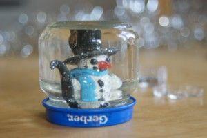 ekodziecko śnieżna kula bałwanek snow globe snowman