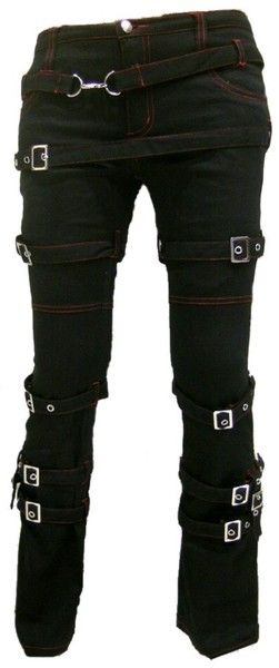 Harem Pants – Destruction SteamPunk Gothic bondage Pants – a unique product by steelalchemy on DaWanda #punk_style_costumes