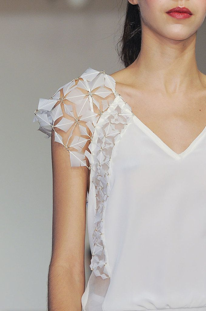 See the most gorgeous detail shots and closeups from Fashion Week - including this one from Christine Phung