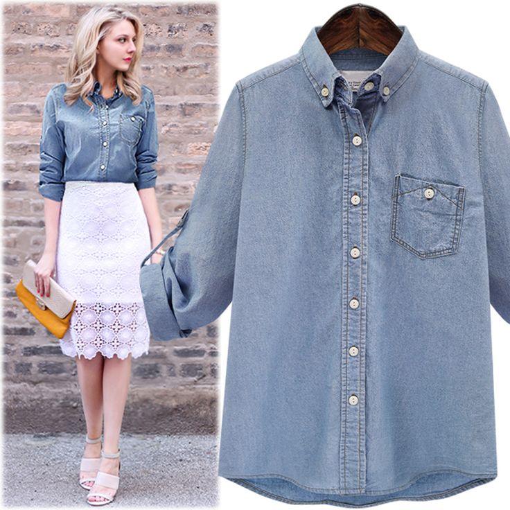 Best 25  Ladies denim shirt ideas on Pinterest | Fitted denim ...