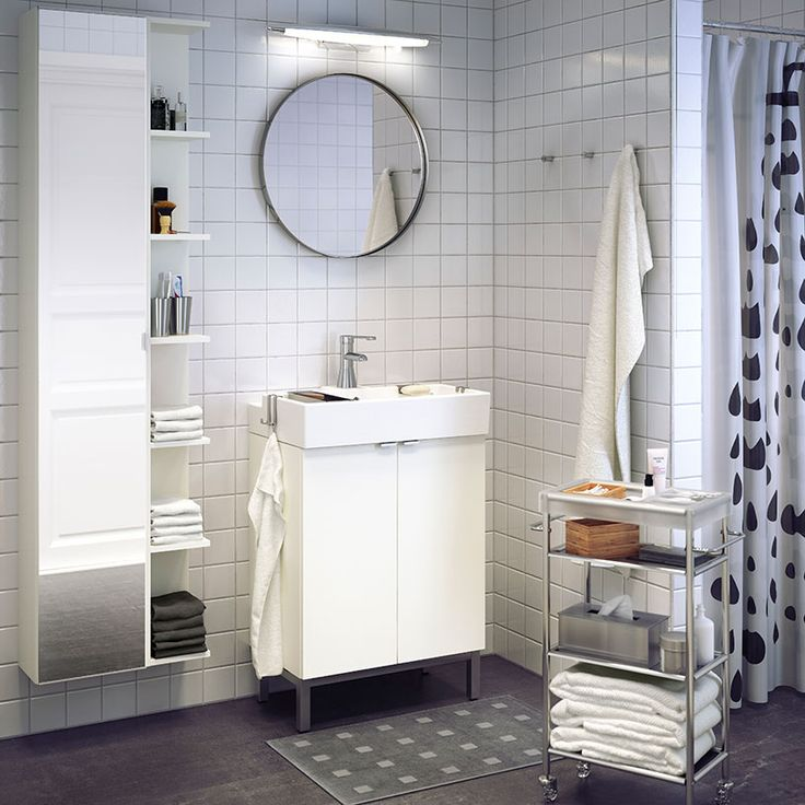 LILLÅNGEN White Wash Basin Cabinet With Two Doors And RÖRSKÄR Mixer Tap.  Basement Bathroom IdeasBathroom InteriorIkea Bathroom FurnitureWhite  BathroomsSmall ... Part 65